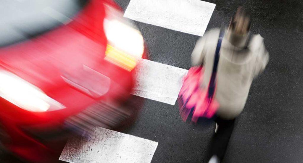 Accidente peatonal en las calles de Atlanta, GA