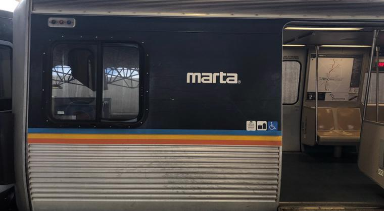 This image shows a MARTA train in Atlanta.