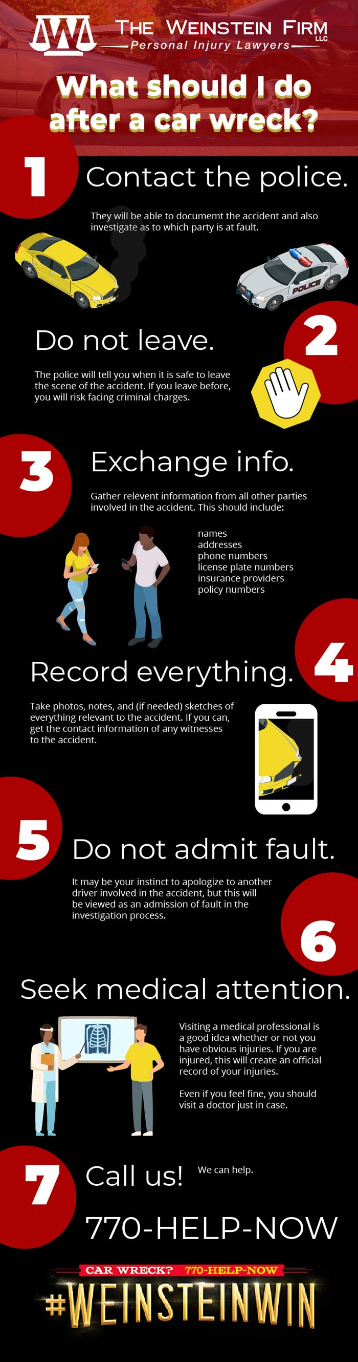What to do after a car accident in Atlanta, GA? (Infographic)