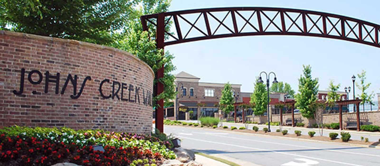 Johns Creek wall sign