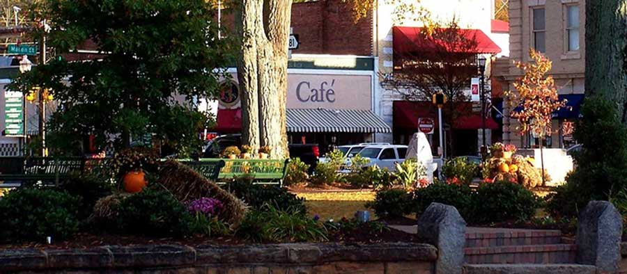 Cafe shop on a street in McDonough