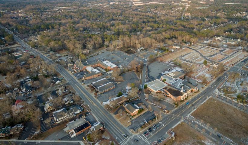 Aerial view of downtown Alpharetta