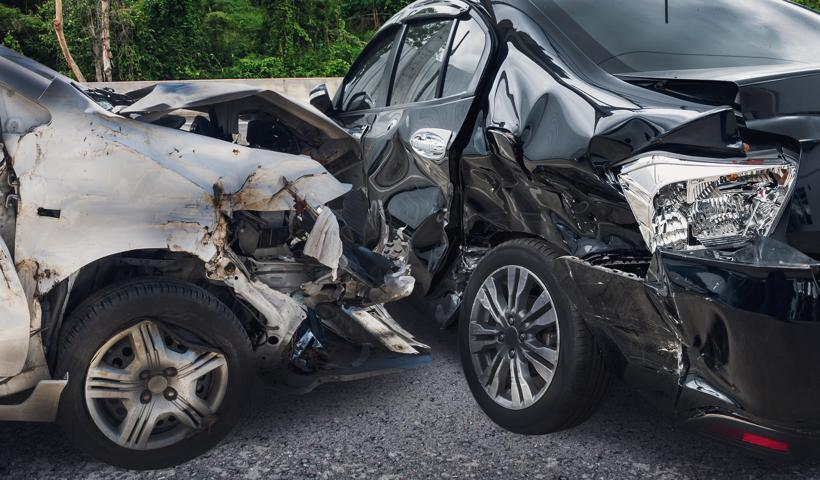 The aftermath of a car accident in Alpharetta, GA