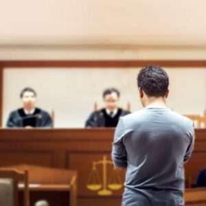 A man in court.