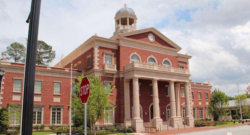 The courthouse in Alpharetta, Georgia