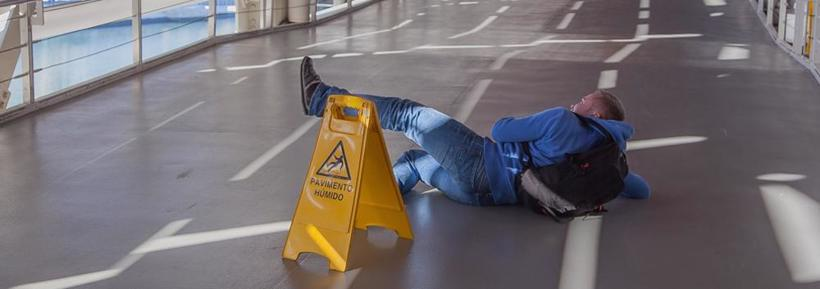 A man suffers a personal injury after a slip and fall.
