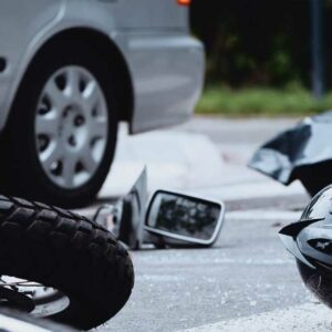 Picture of a motorcycle accident