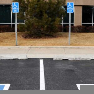 Picture of disability only parking spaces