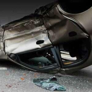 Picture of Crash Involving Stolen Vehicle