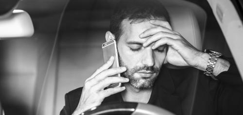 man calling an Athens car accident lawyer after accident