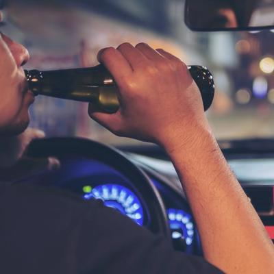 Man driving and driving, concept of punitive damages