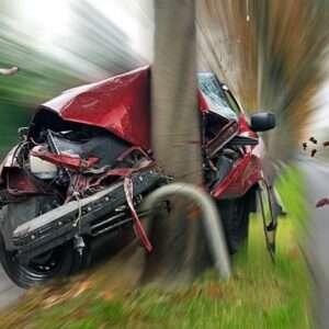Single-Vehicle Crash on Collier Road