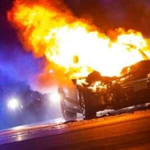 Car Fire in Atlanta