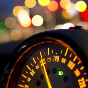 How does speeding increase the chance of an accident?