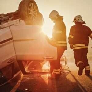 Deans Bridge Road rollover accident
