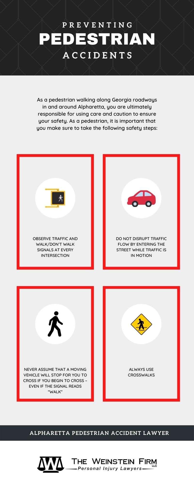 Weinstein Alpharetta Pedestrian Accident Infographic