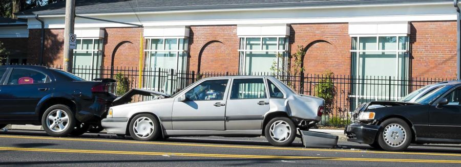 An image showing a multi-car accident